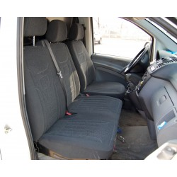 Welur Mercedes Sprinter II FL (2013-dzis) 2+1  pokrowce na fotele samochodowe