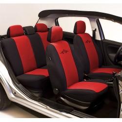 TRIBAL czerwony uniwersalne pokrowce na fotele samochodowe