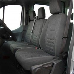Welur Peugeot Boxer II (2006-2014) 2+1 pokrowce na fotele samochodowe