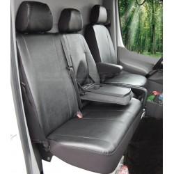 Eko Citroen Jumper II DOKA 7 msc (2006-2014) 2+1 skórzane pokrowce na fotele samochodowe