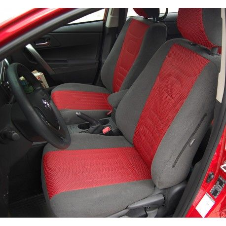 Toyota Auris II  Wzór KRESKA CZERWONA (grafit+czerwony)